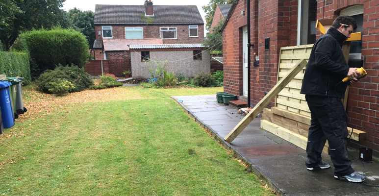 picket garden fencing Partington