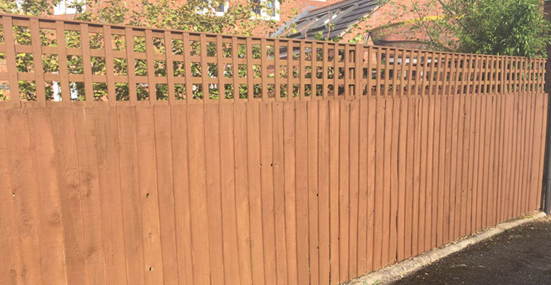 recent garden fencing project